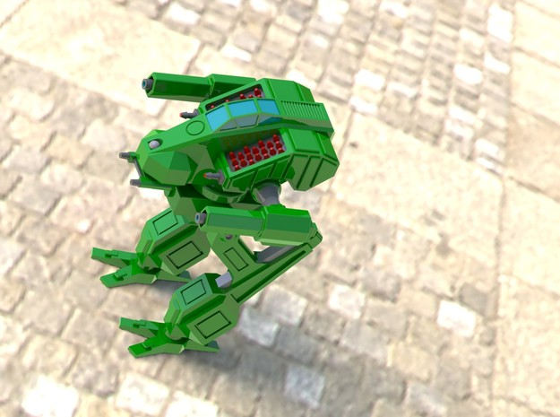 Vulture 2 85ton Assault Mech 15mm Scale 3d printed