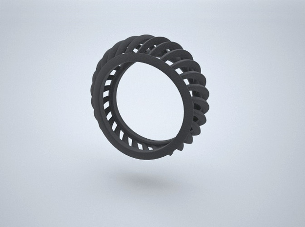 Rail Arcs Ring - Size 6.75    in Black Natural Versatile Plastic