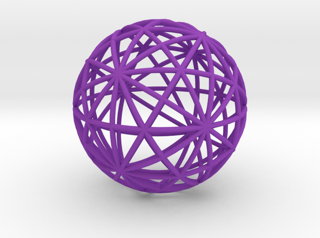 Icosahedral Ball in Purple Processed Versatile Plastic