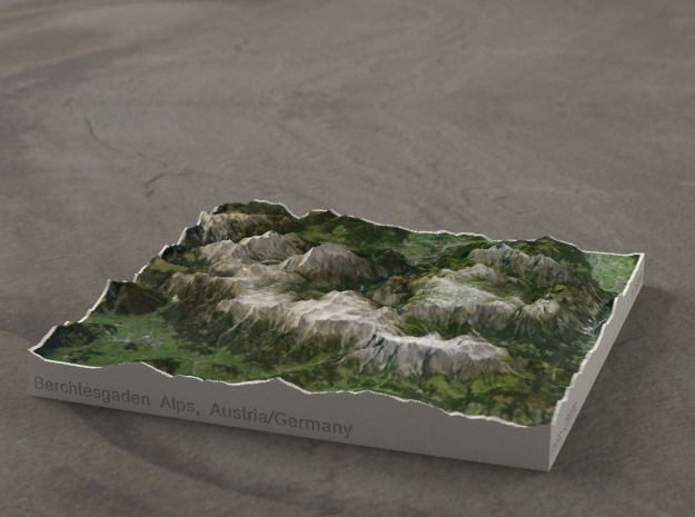 Berchtesgaden Alps, Austria/Germany, 1:250000 in Full Color Sandstone
