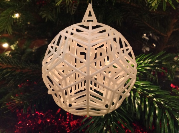 Christmas Ornament - Customizable Spinning Bauble 3d printed