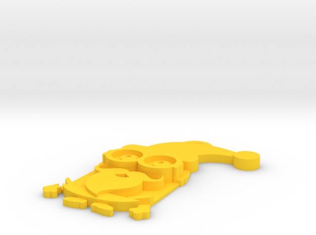 Kevin-Santa Claus in Yellow Processed Versatile Plastic