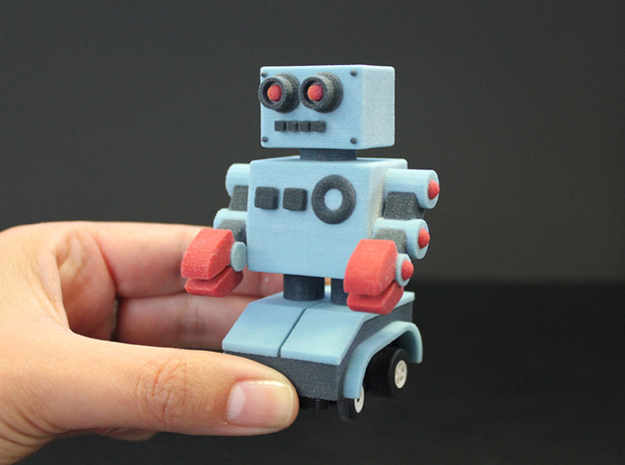 Billy Bob the home made remote control robot 3d printed I'm this big