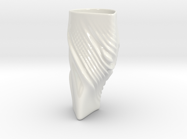 Interference Mug _ F7A5 in Gloss White Porcelain