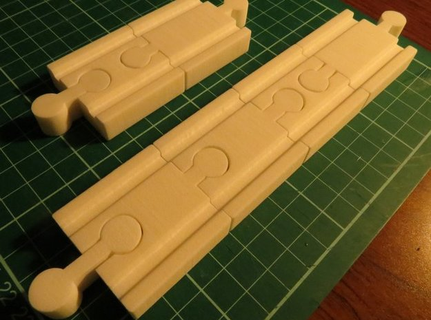 Lillabo, Brio, All Connectors (set Of 8) 3d printed Material: White Strong & Flexible, test print