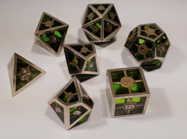 Epoxy Dice Set With Decader