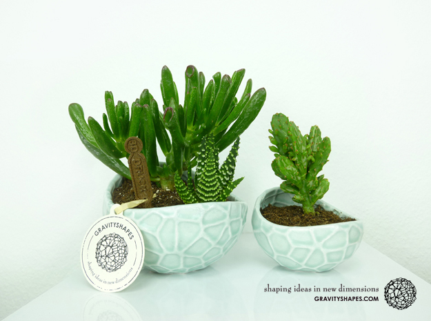Porcelain Plant-pot in Water-Look (size XL)