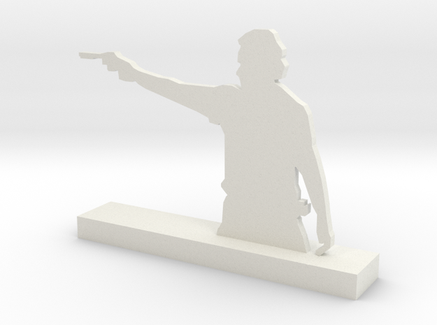 Inspired on 'The Walking dead' Rick Sculpture in White Natural Versatile Plastic: Medium