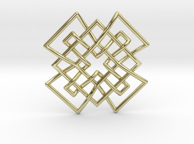 Tetramesh Pendant in 18k Gold Plated Brass
