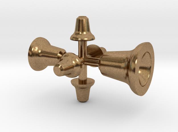 Glocken (4,5 + 3,4 + 2,3 mm) in Raw Brass