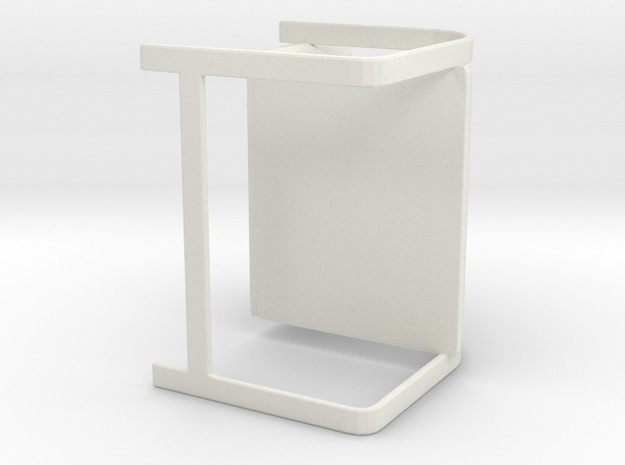 Brno Chair in White Natural Versatile Plastic: Extra Small