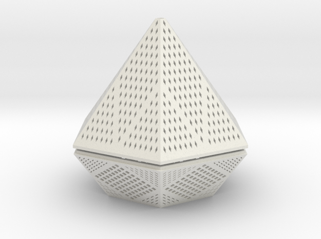 Diamond lampshade in White Strong & Flexible
