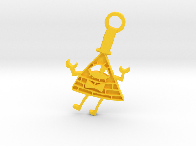 Bill Cipher Keychian in Yellow Processed Versatile Plastic