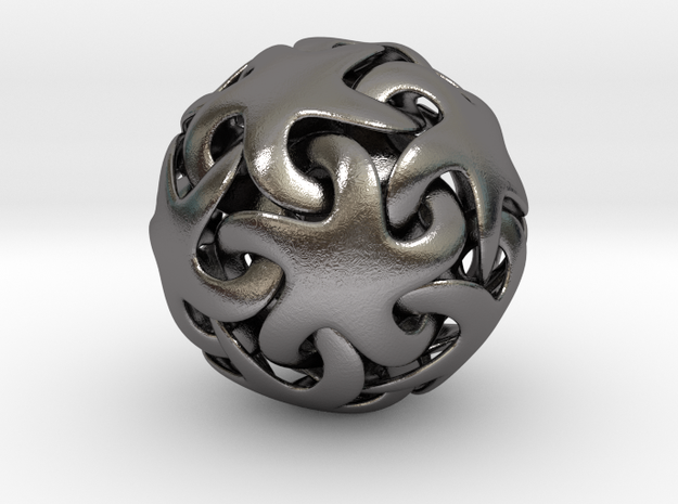 Starfish ball in Polished Nickel Steel