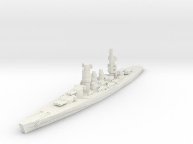 Conte di Cavour battleship 1/1800 in White Strong & Flexible