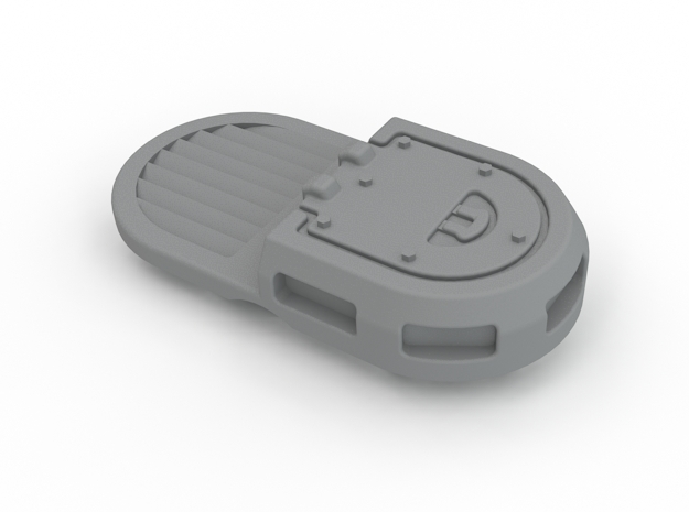 Rhino Single Hatch With Vent in White Processed Versatile Plastic