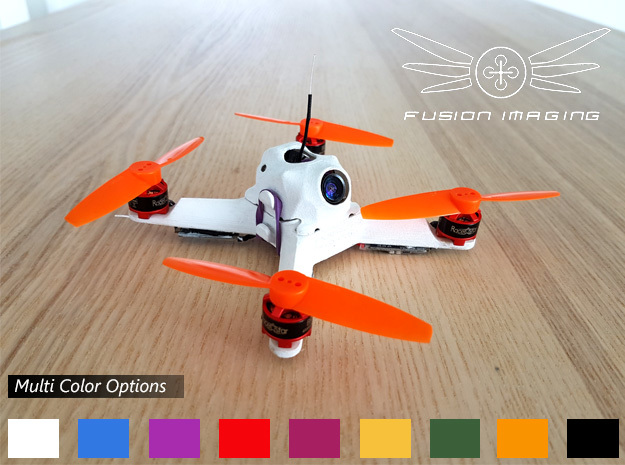 Fusion Micro FPV Frame 114 in White Strong & Flexible Polished