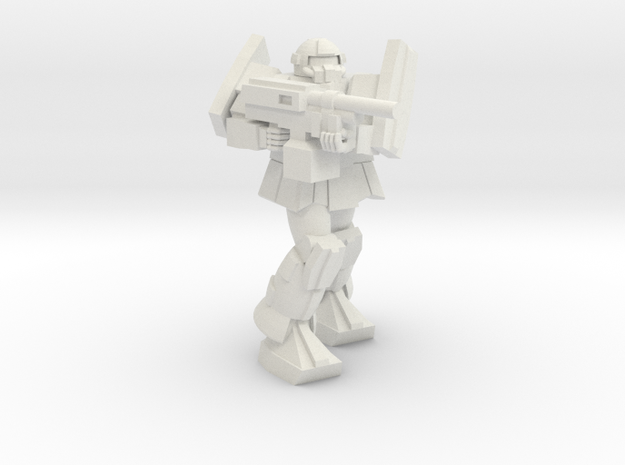 'Pug' A1A - Pugnator pose 4 in White Natural Versatile Plastic