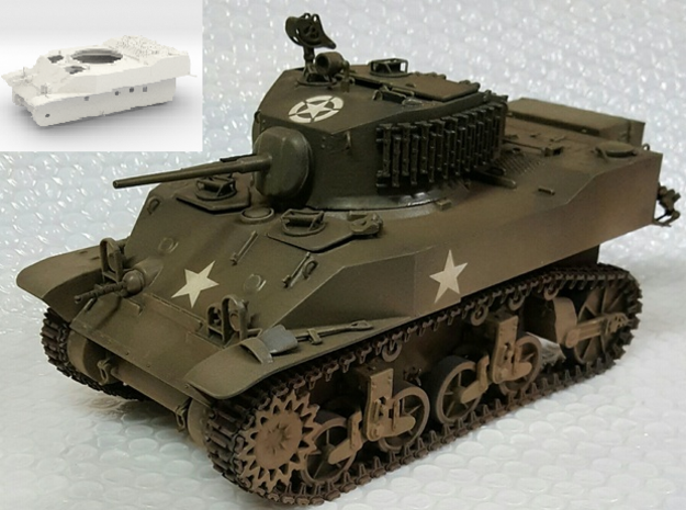 1:16 USA M5A1 Body in White Strong & Flexible