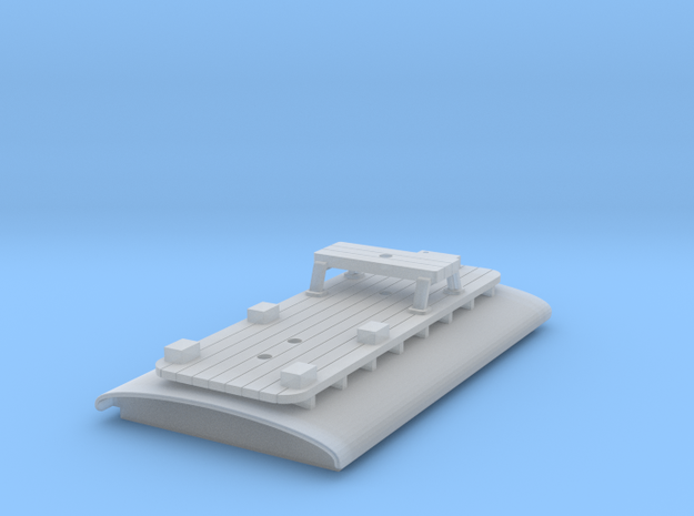 Combo Roof for N Scale B-W Steeplecab in Smooth Fine Detail Plastic