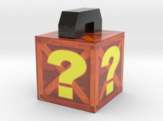 Crash Bandicoot Box - Pendant/Necklace/Keychain in Coated Full Color Sandstone