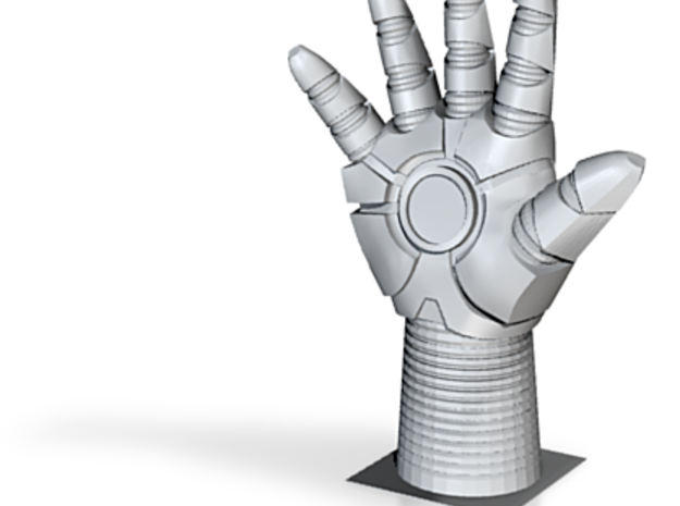 Iron Man: Hand Right 3d printed