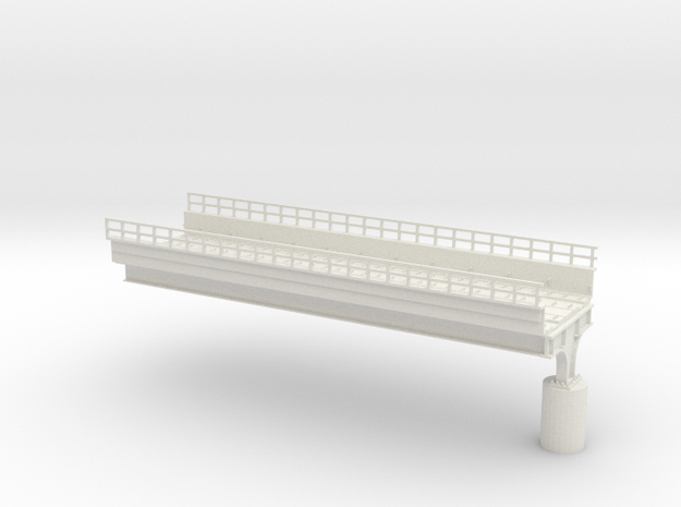 HO scale Elevated West PHL 12 in White Natural Versatile Plastic