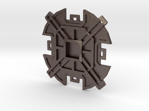 Sorcerer's Pendant in Polished Bronzed Silver Steel