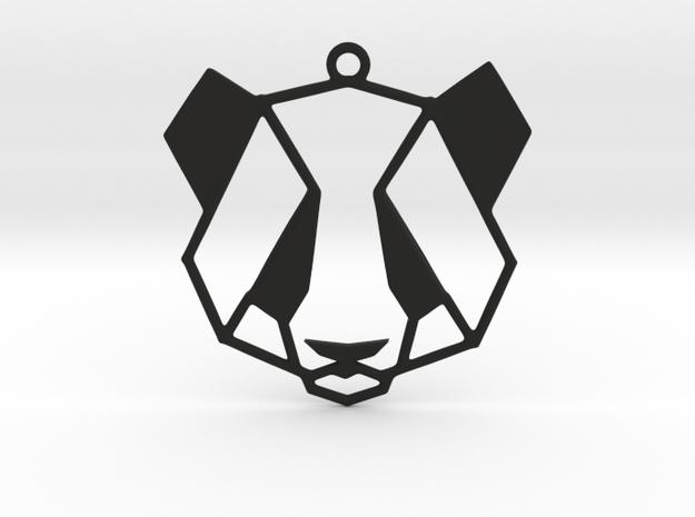 Panda  Pendant in Black Strong & Flexible
