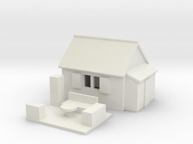 Gartenlaube / arbour (Z, 1:220) 3d printed