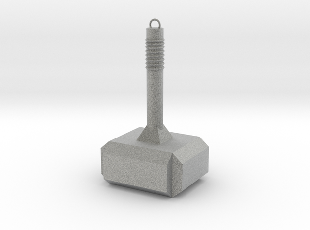 Thor Hammer KeyChain in Metallic Plastic