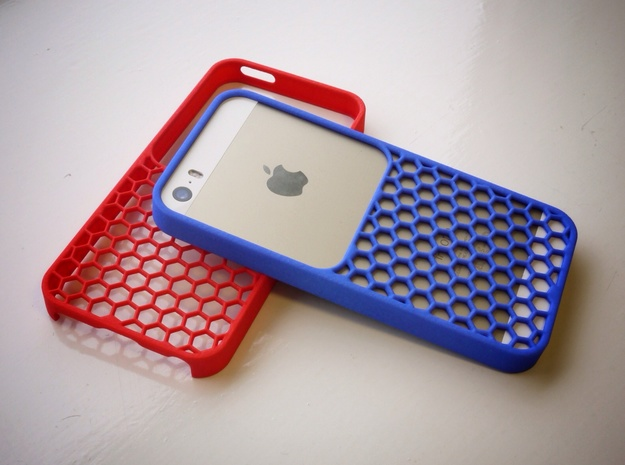 50/50 case for iPhone 5/5s in Blue Processed Versatile Plastic