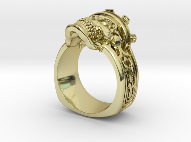 Fancy Skull  in 18k Gold