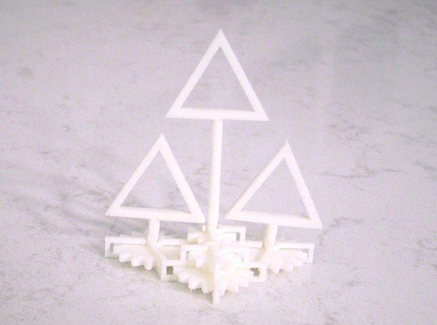 Gear Triforce in White Natural Versatile Plastic