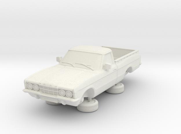 1-64 Ford Cortina Mk3 2 Door P100 in White Natural Versatile Plastic