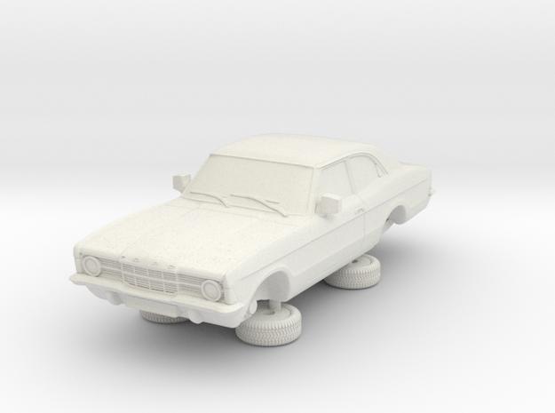 1-64 Ford Cortina Mk3 2 Door Standard Single Hl in White Natural Versatile Plastic