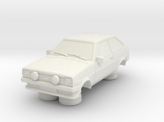 1-64 Ford Fiesta Mk1 Xr2 in White Natural Versatile Plastic