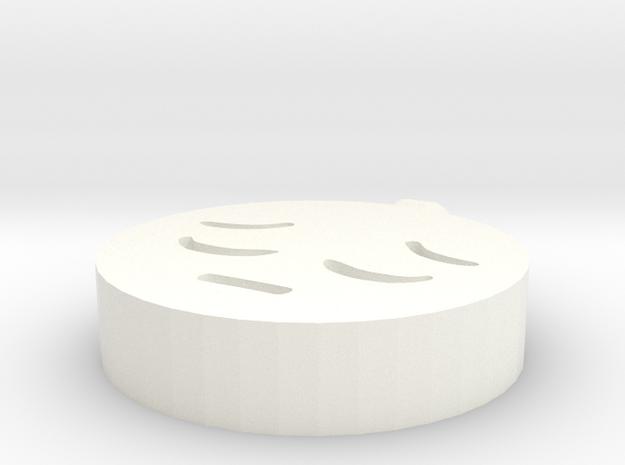Happy and sad pendant in White Processed Versatile Plastic