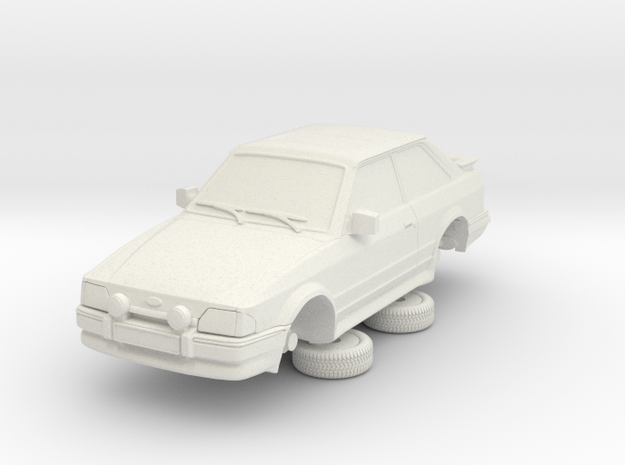 1-64 Ford Escort Mk4 2 Door Rs Turbo in White Natural Versatile Plastic