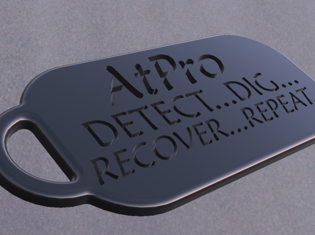 Atpro DOGTAG Detect, Dig, Recover, Repeat in White Strong & Flexible