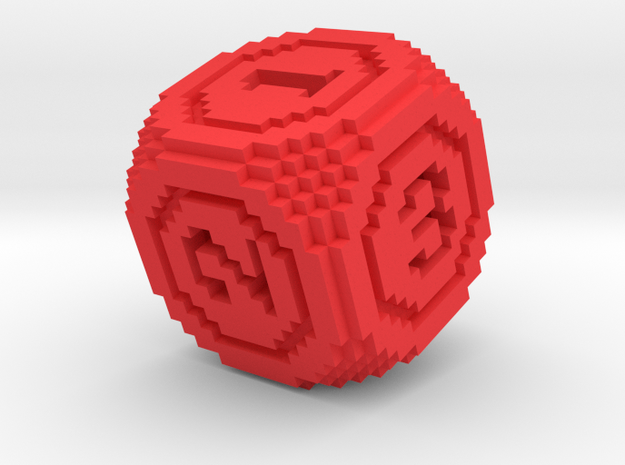 8-Bit Pixel Die in Red Strong & Flexible Polished
