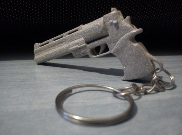 Mateba Model 6 Unica Autorevolver Keychain 3d printed Just added a keychain chain to my sample, and it's ready for use!