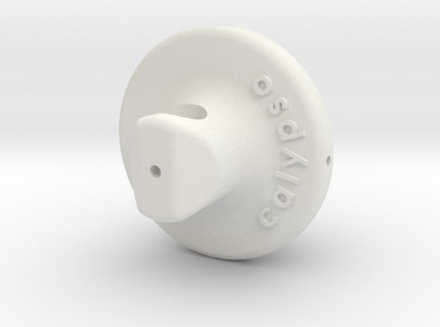 Calypso Silicone Oil Tonearm Bearing Body V2  in White Natural Versatile Plastic