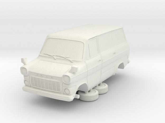 1-64 Ford Transit Mk1 Short Base Van Side Door in White Natural Versatile Plastic