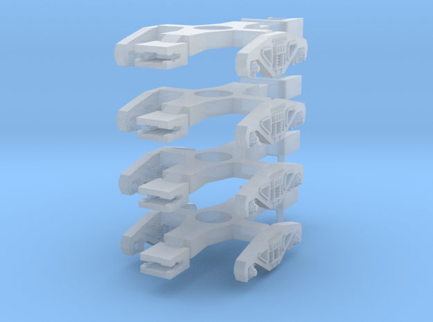 Gloucester Bogies (NGS compatible) in Smoothest Fine Detail Plastic