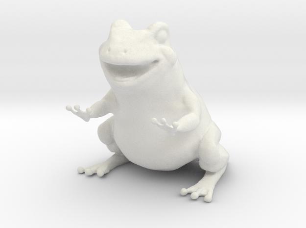 Frog figurine  in White Natural Versatile Plastic