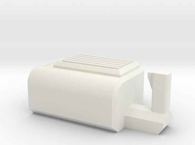 Mini Gun Body in White Strong & Flexible: Small