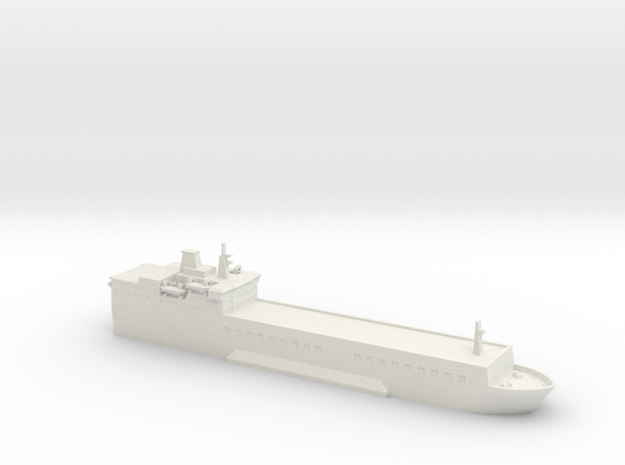 1/700 MV Baltic Ferry in White Natural Versatile Plastic