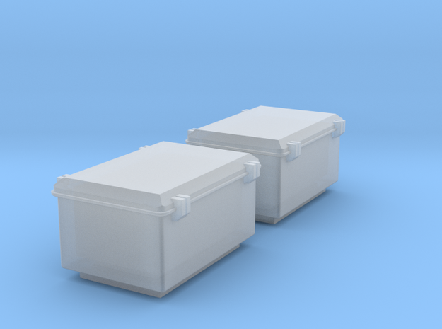 RhB Signal - Electrical boxes for masts in Smooth Fine Detail Plastic