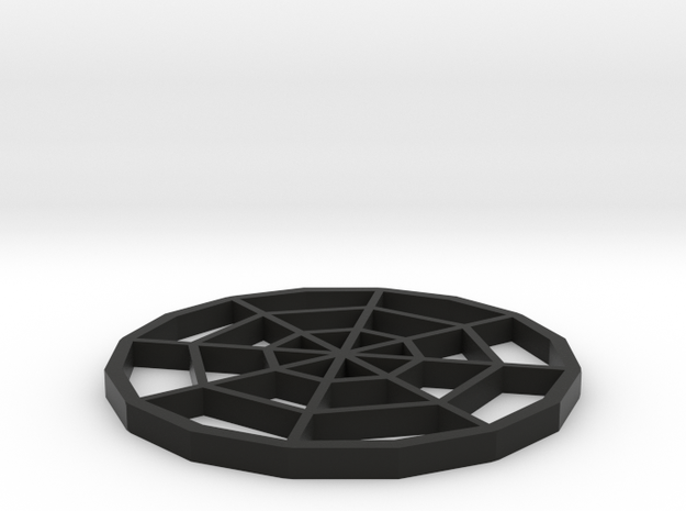 Spiderweb Coaster in Black Natural Versatile Plastic